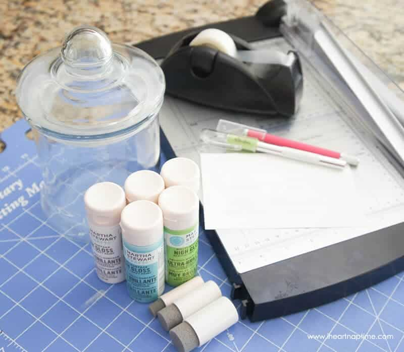 Glass Jar Stencil Art Supplies