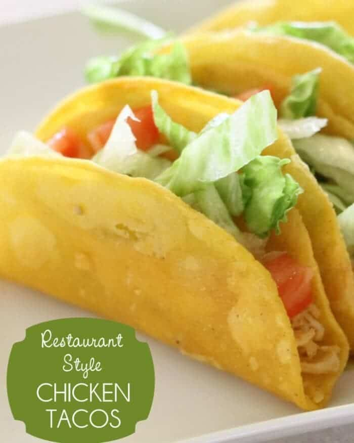 restaurant style chicken tacos