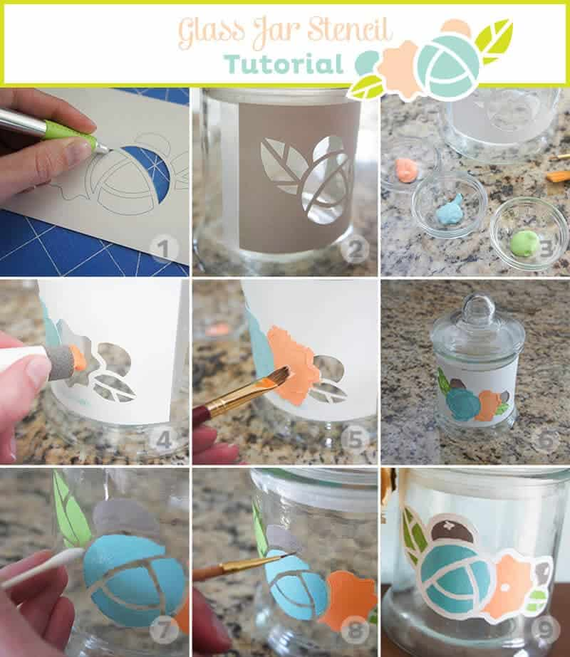Glass Jar Stencil Tutorial