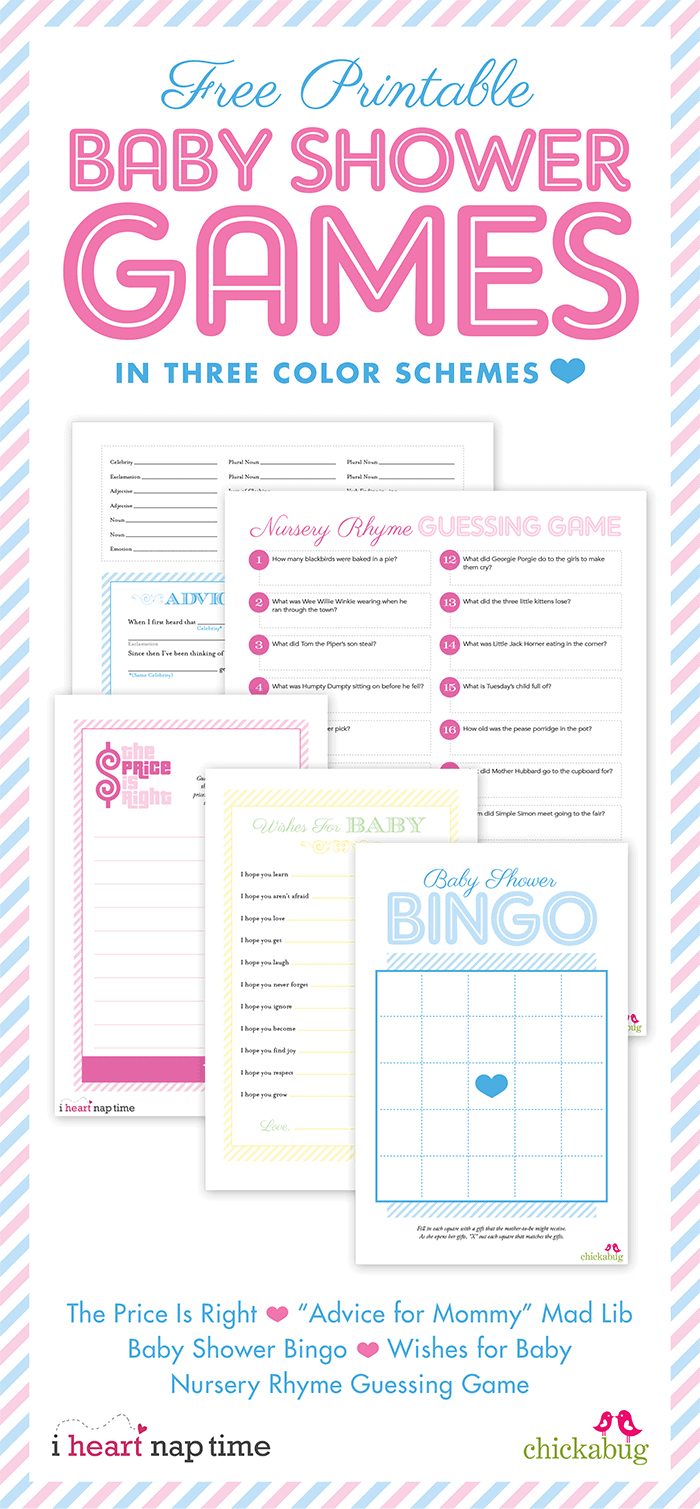 Pink Baby Shower W Printable Baby Shower Games I Heart