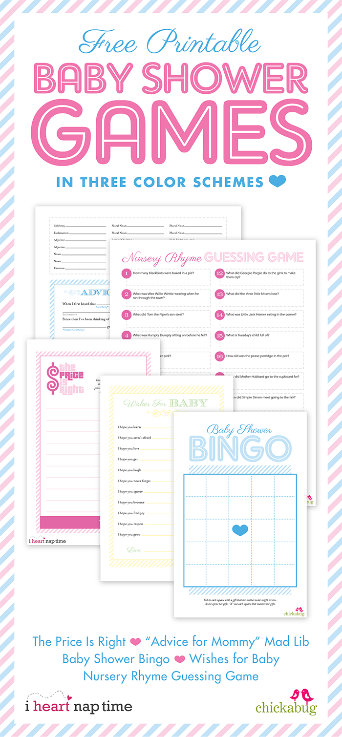 Pink baby shower w/ printable baby shower games I Heart Nap Time