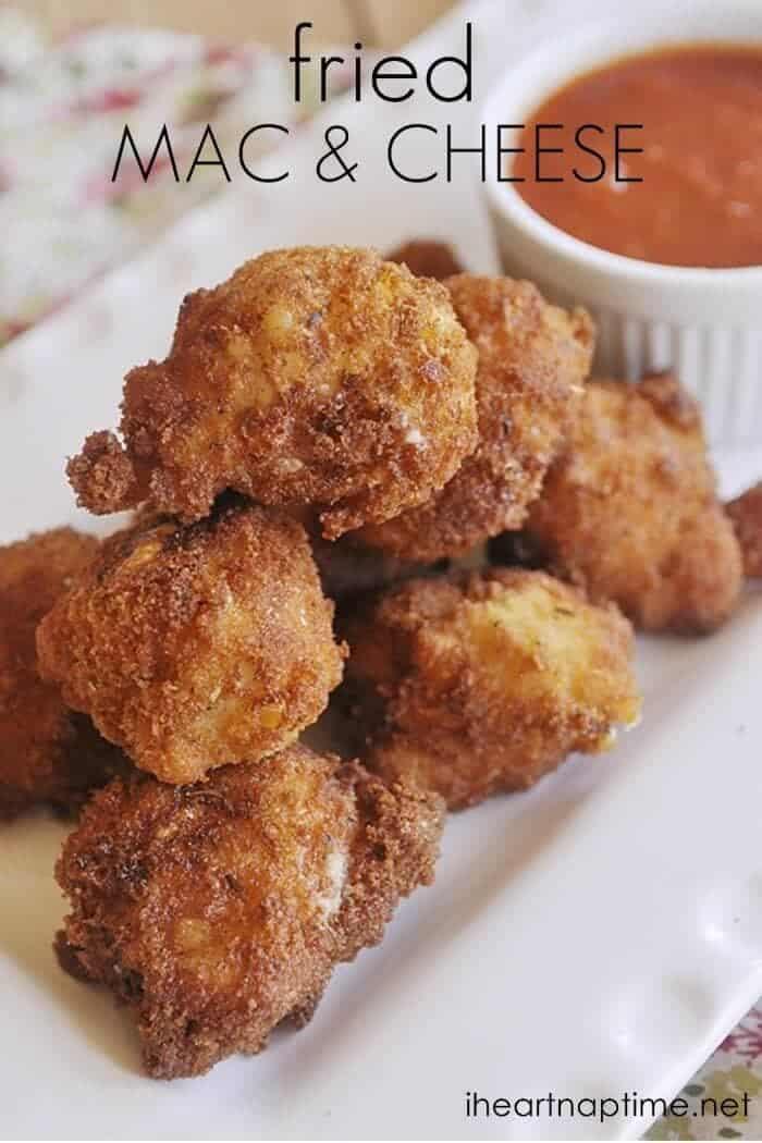 fried mac & cheese recipe ...yummm!