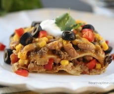 Mexican lasagna ....easy and delicious!