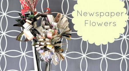 Newspaper Flowers (repurpose newspaper craft)