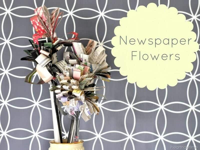 A quick and easy tutorial for making flowers out of newspaper mightylinksfo