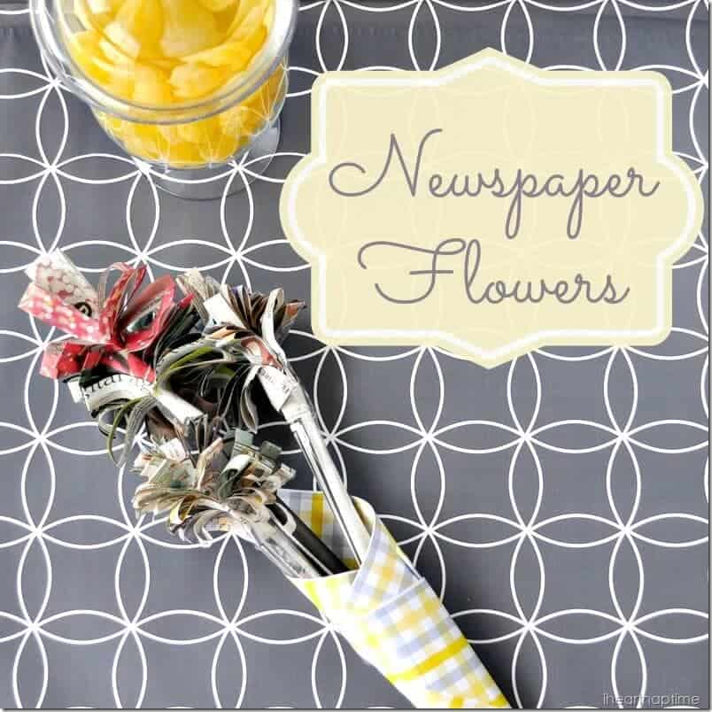 A quick and easy tutorial for making flowers out of newspaper newspaper flowers iheartnaptime 6 mightylinksfo