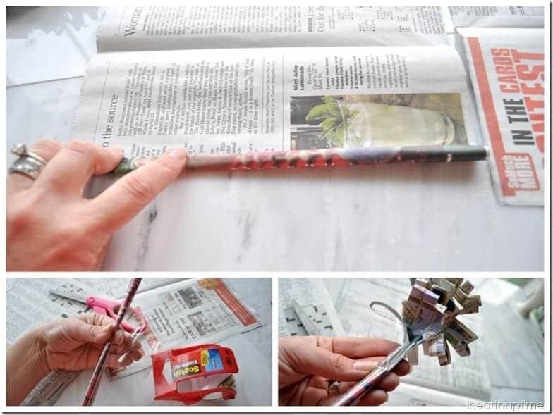 newspaper flowers @iheartnaptime (8)