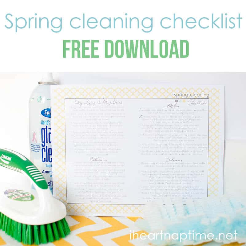 Spring Cleaning Printable Checklist - I Heart Nap Time