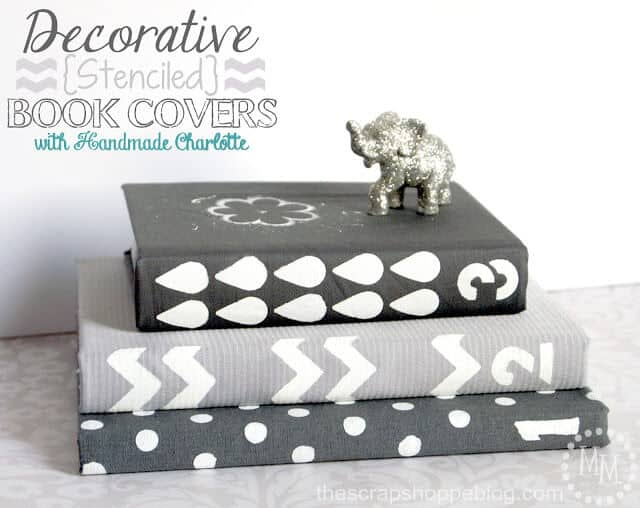 stenciled book covers 1