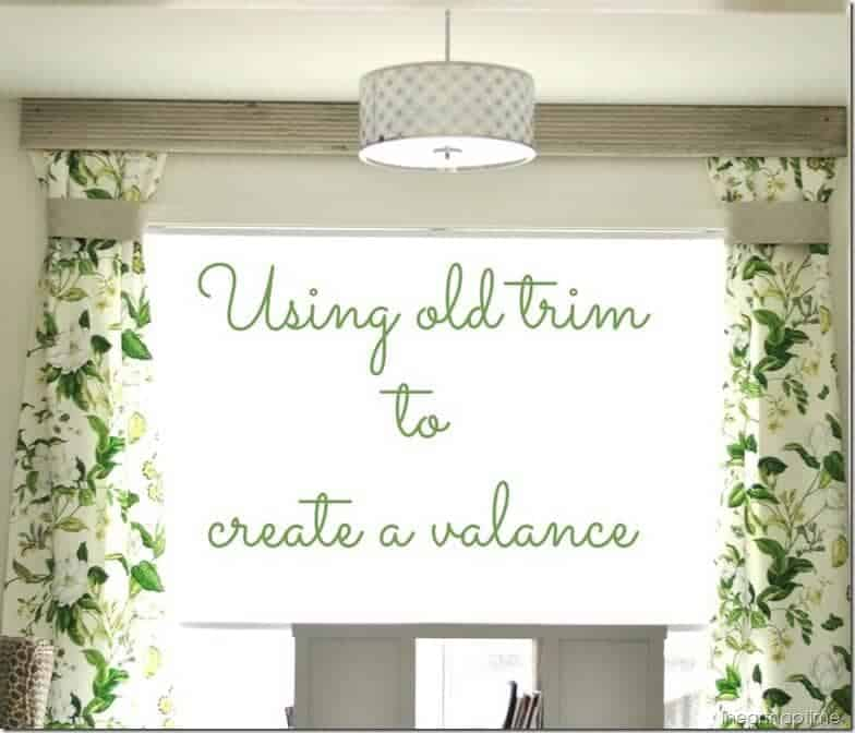 using old trim to create a valance @cleverlyinspired (10)