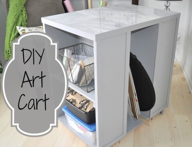 DIY art cart @cleverlyinspired (7)