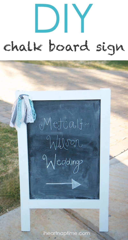 DIY chalk board sign - I Heart Nap Time