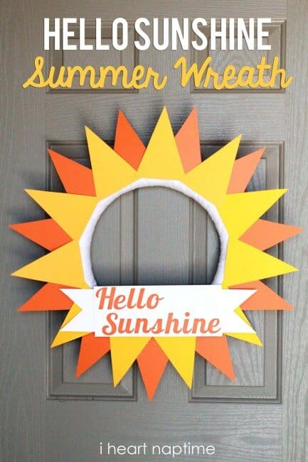 Hello Sunshine Summer Wreath