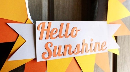 Hello Sunshine Summer Wreath 9