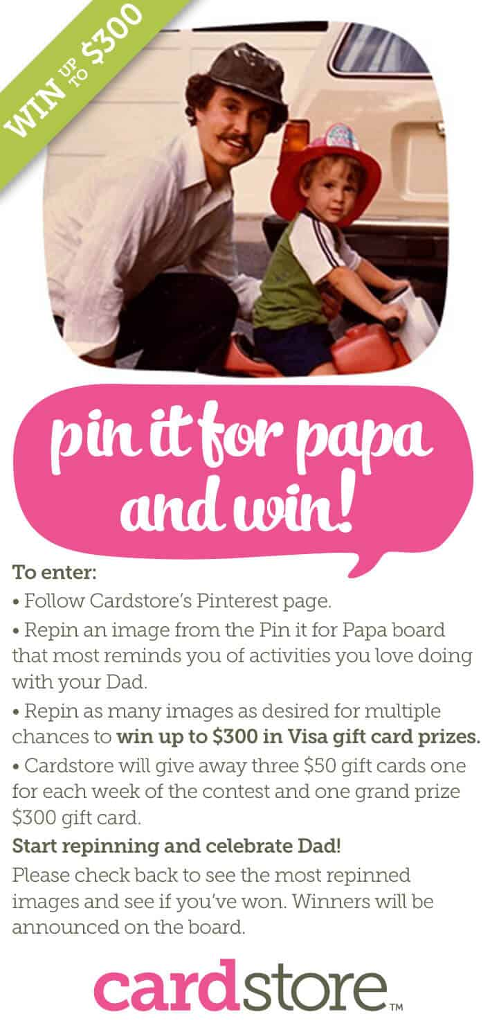 Pinterest contest with cardstore