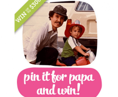 Pin it for papa and win!