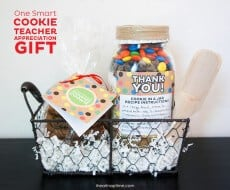 One Smart Cookie Teacher Gift with FREE printable on www.iheartnaptime.com