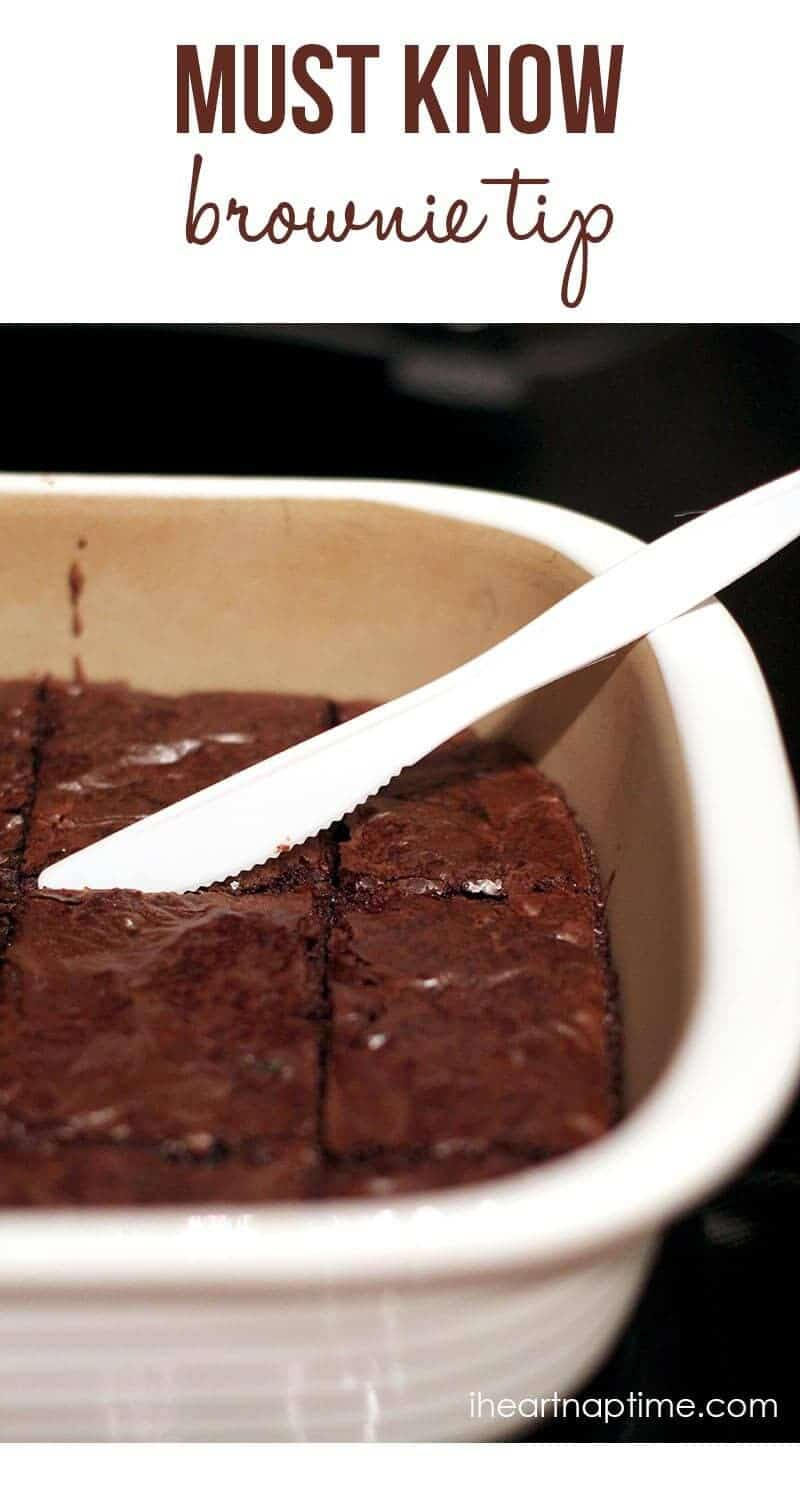 Must know brownie tip ...why didn't I think of that?!