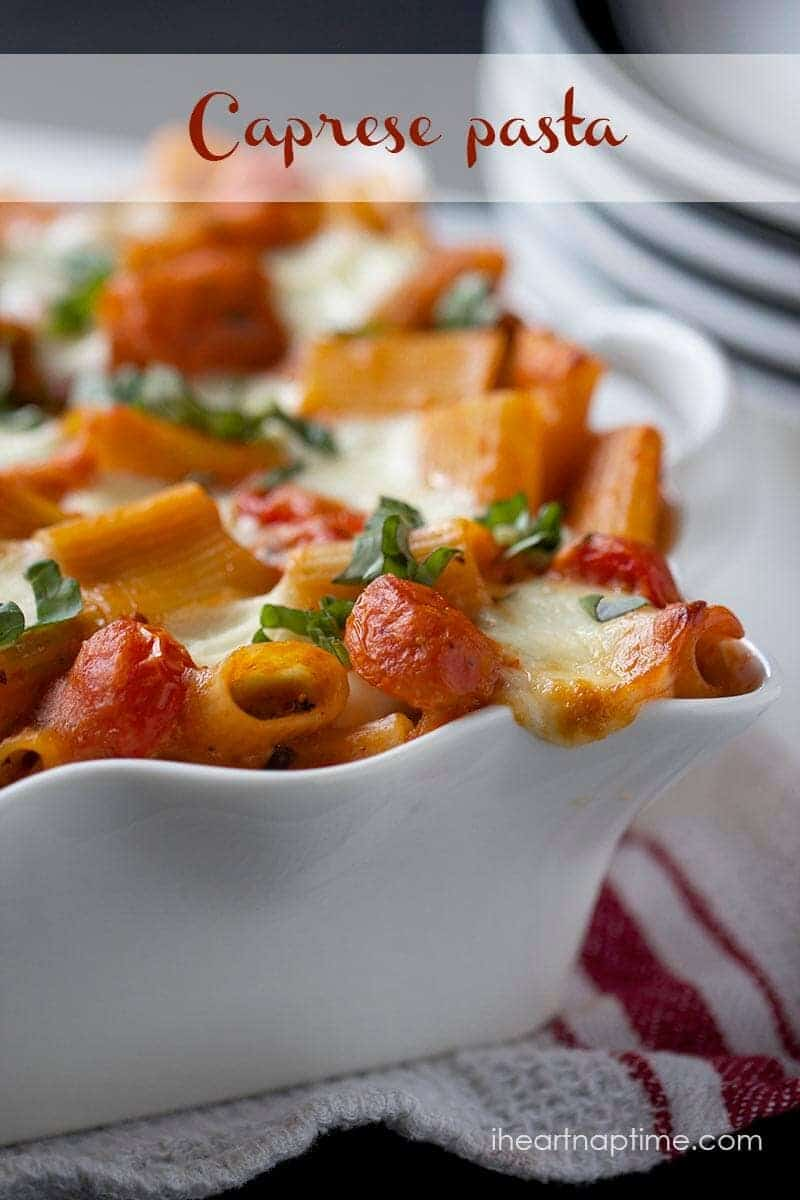 Creamy caprese pasta ...one of the best pasta dishes I've ever made!