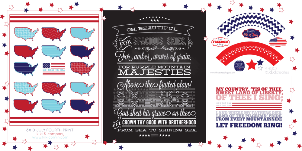 fourth of july prints at kiki and company