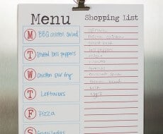 free printable menu on iheartnaptime.com
