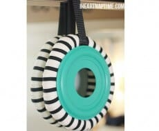 make a wreath with a $1 pool noodle!