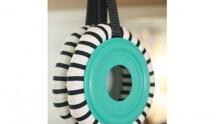 Make a wreath with a pool noodle