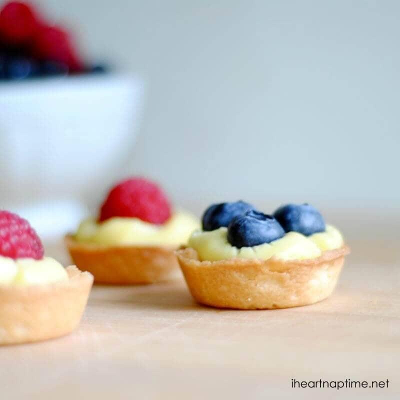 mini fruit tarts with fresh berries