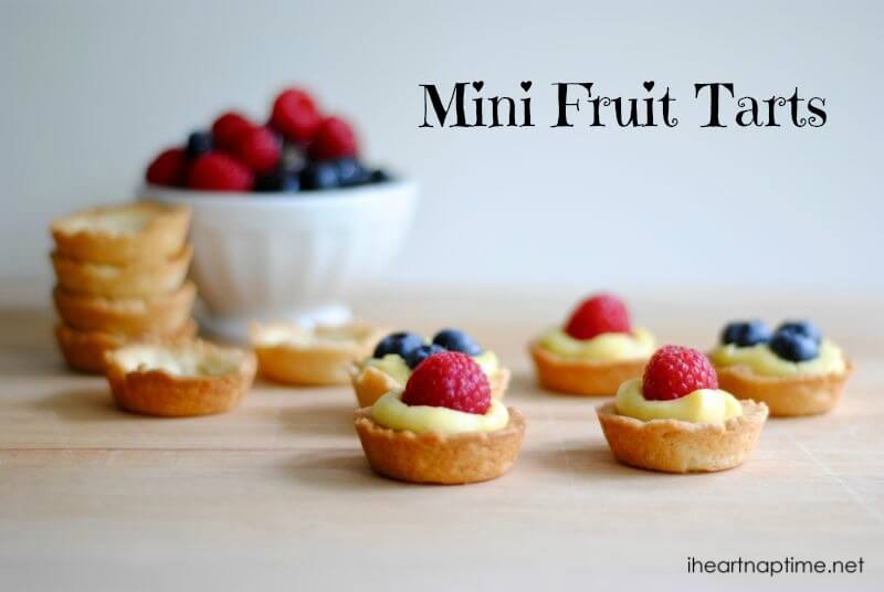 mini fruit tarts with fresh berries