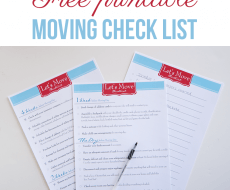 Free printable moving check list