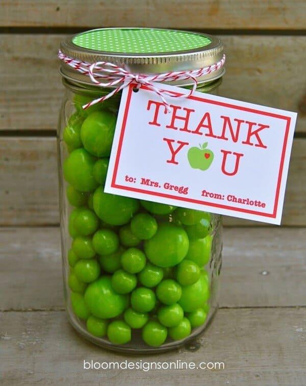 teacher-appreciation mason jar vase