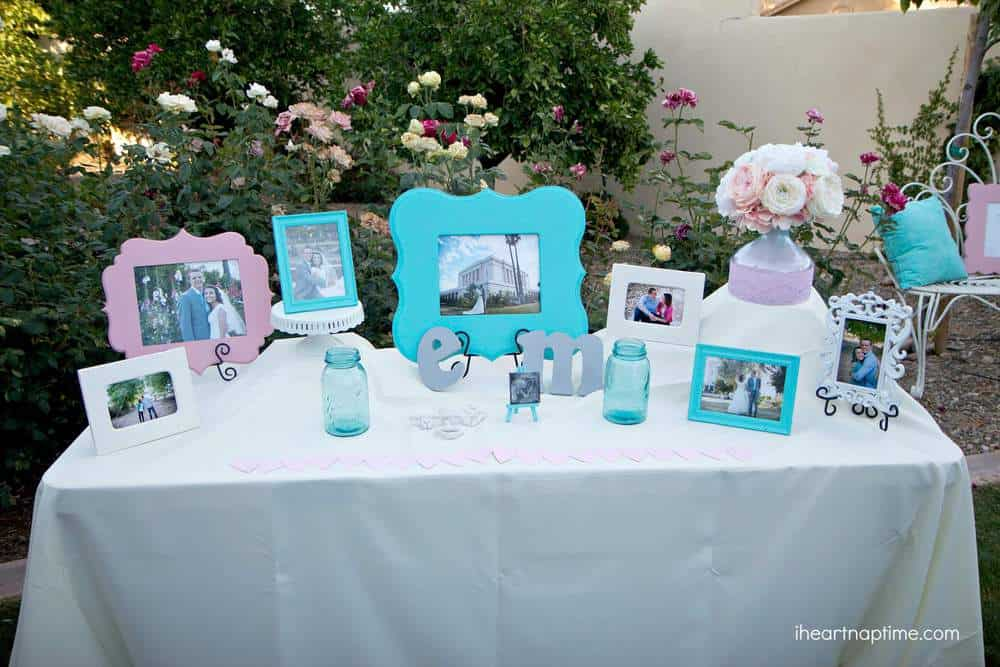 Grey and turquoise DIY wedding by I Heart Nap Time