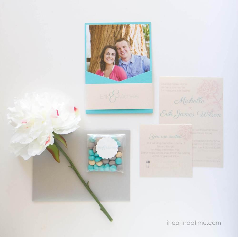 wedding invite from Envelopments