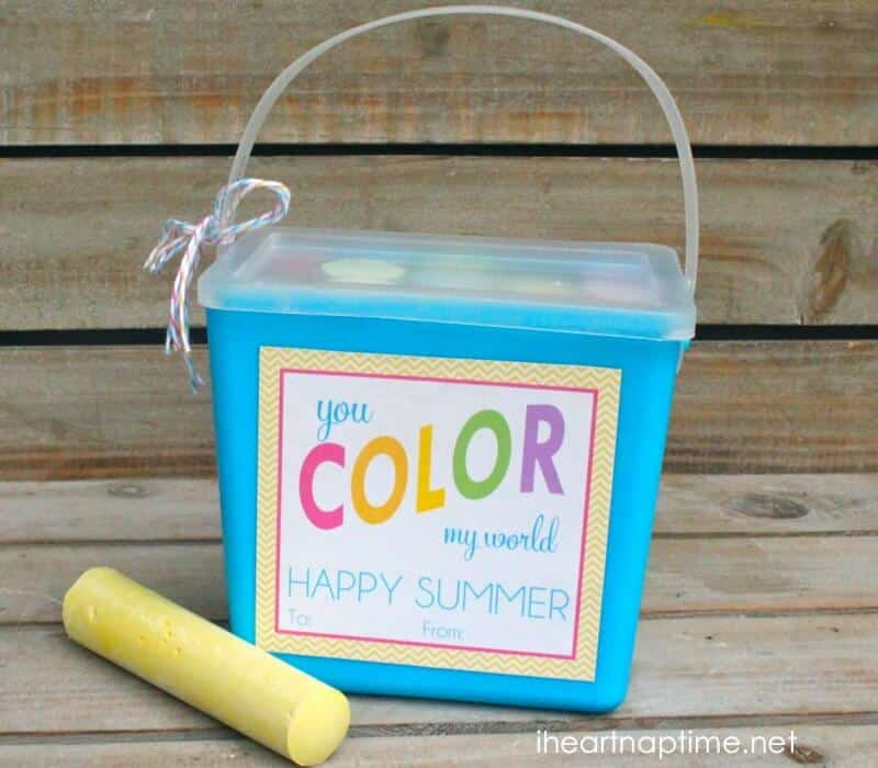 You color my world free download + 12 free summer printables!