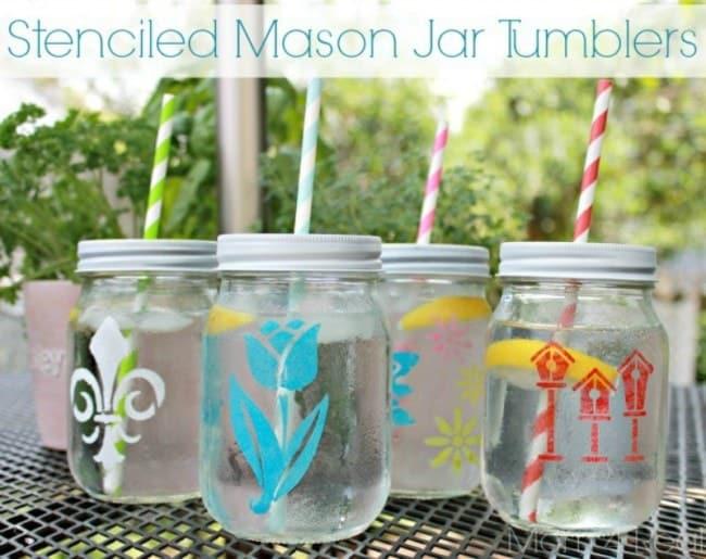 1Stenciled-Mason-Jar-Tumblers-Mom-4-Real