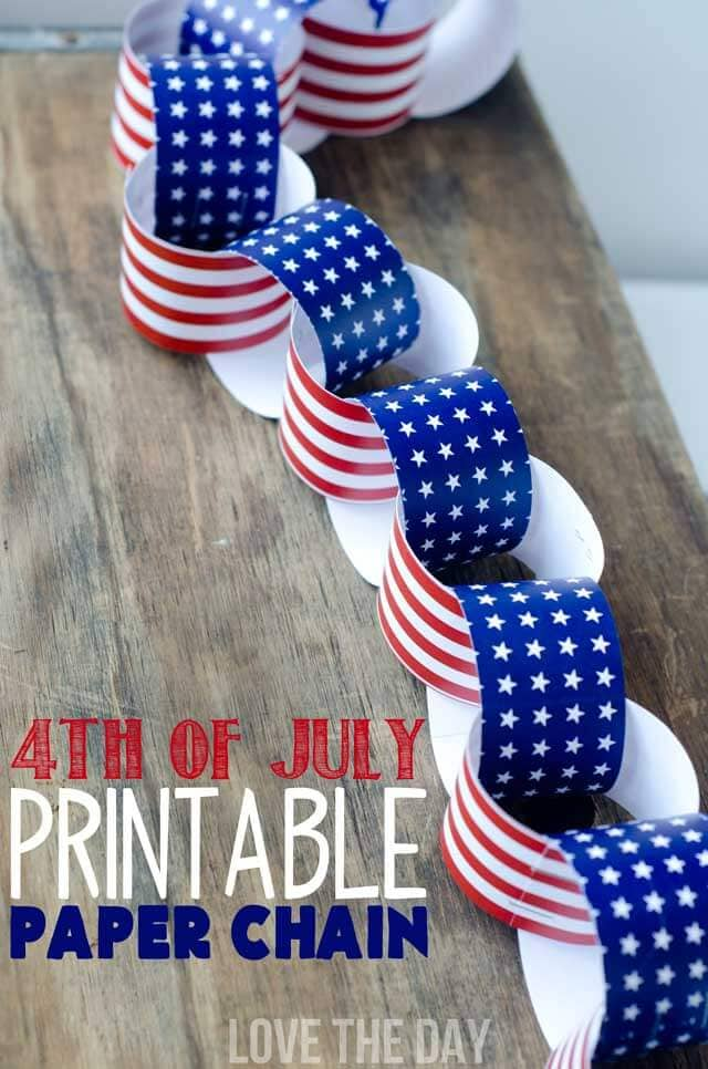4th_Of_July_Paper_Chain