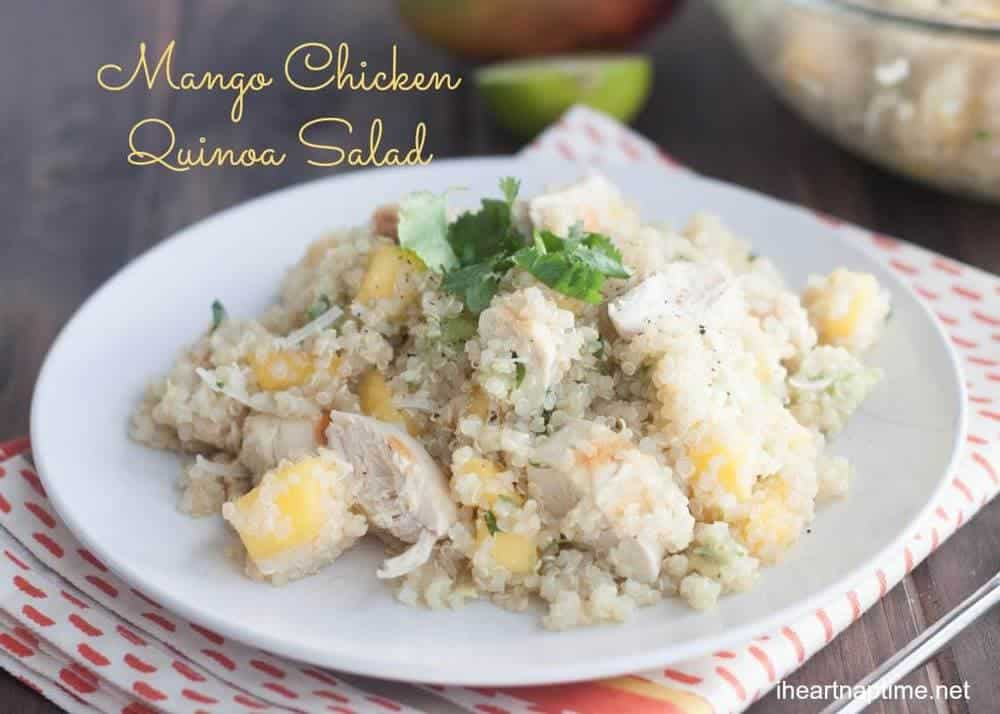 Mango Chicken Quinoa Salad {Hello Summer} - I Heart Nap Time