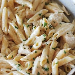 One Pan Chicken Alfredo from No. 2 Pencil