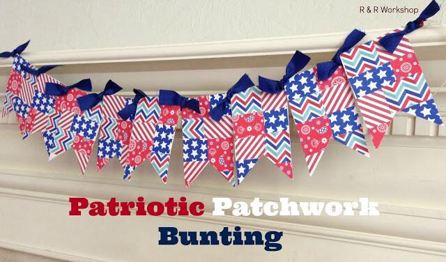 Patriotic Patchwork Bunting