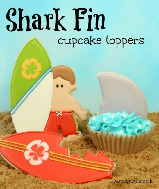 Shark Fin Cupcake Toppers_1 {watermaked}
