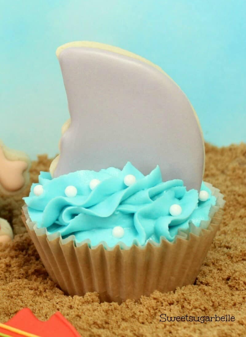 Shark Fin Cupcake Toppers Hello Summer I Heart Nap Time