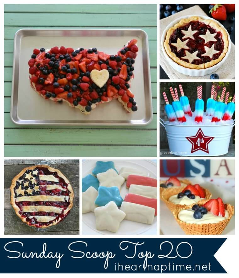 Sundae Scoop Top 20--inspiring Fourth of July Creations at I Heart Naptime