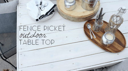 Fence Picket Table Top from The Wood Grain Cottage on I Heart Nap Time