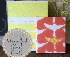 easy stenciled bird art 52mantels.com