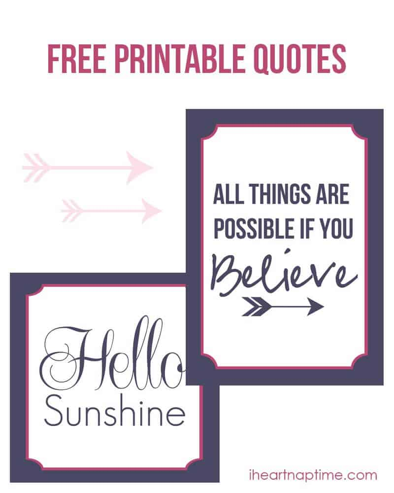 All Things Are Possible If You Believe Free Printable Quote