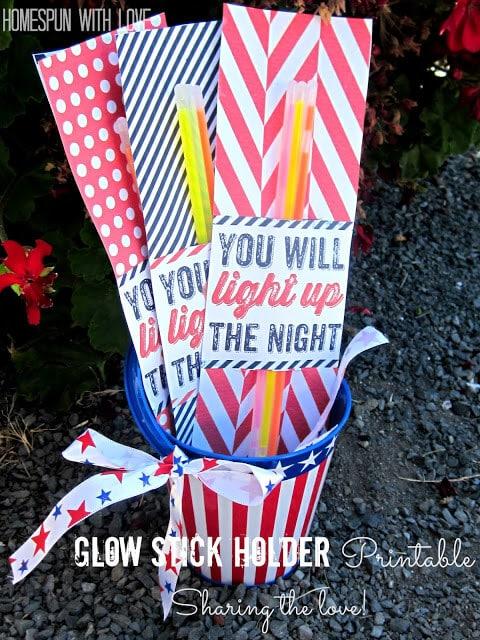 glow stick holder printable