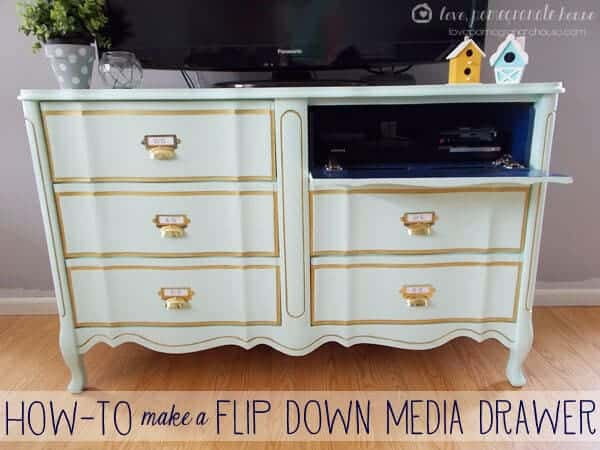 how to make a flip down media drawer