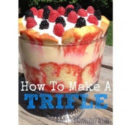 how to make a trifle