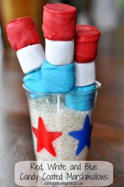 red white and blue marshmallows