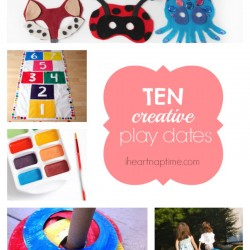 10 creative play dates on iheartnaptime.com